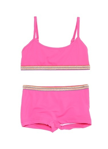 Bellisa Bellisa Desenli Pembe Bikini Takım Fuşya